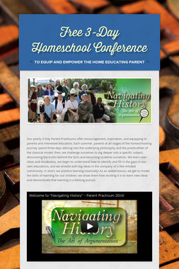 Free 3-Day Homeschool Conference