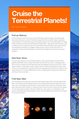 Cruise the Terrestrial Planets!
