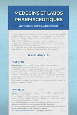 Medecins et Labos pharmaceutiques
