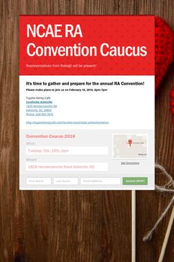 NCAE RA Convention Caucus
