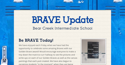BRAVE Update | Smore Newsletters