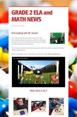 GRADE 2 ELA and MATH NEWS