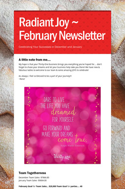 Radiant Joy ~ February Newsletter