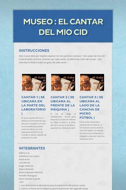 museo : El cantar del mio Cid