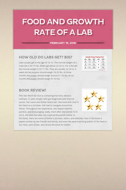 Food and Growth Rate of a Lab