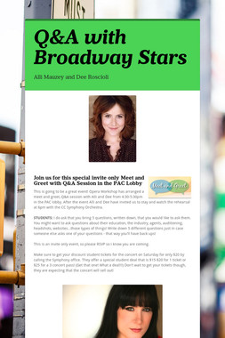 Q&A with Broadway Stars