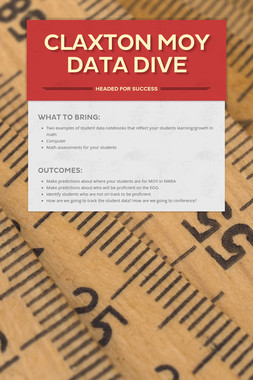Claxton MOY Data Dive