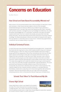 Concerns on Education