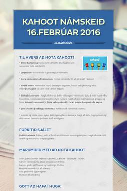 Kahoot námskeið 16.febrúar 2016