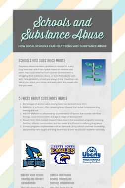 Schools and Substance Abuse