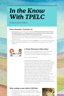 In the Know With TPELC