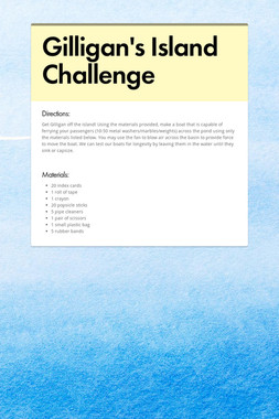 Gilligan's Island Challenge