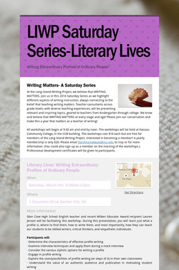 LIWP Saturday Series-Literary Lives