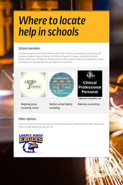 Where to locate help in schools