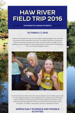 Haw River Field Trip 2016