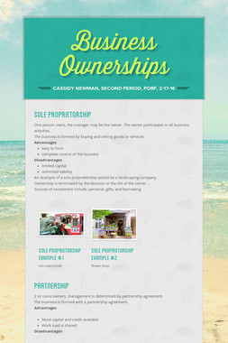 Business Ownerships