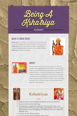 Being A Kshatriya