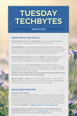 Tuesday Techbytes