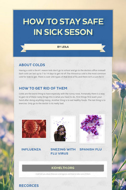 How to stay safe in sick seson