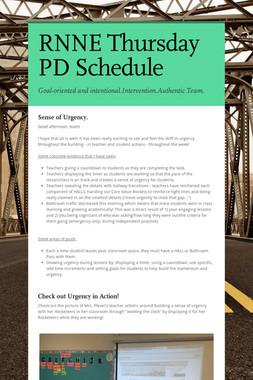 RNNE Thursday PD Schedule