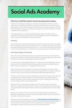 Social Ads Academy