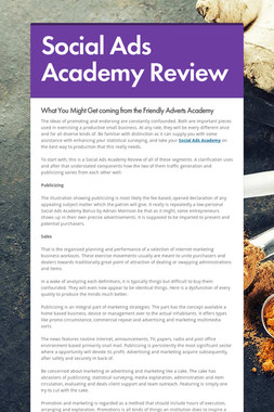 Social Ads Academy Review