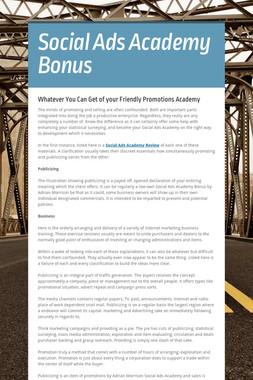 Social Ads Academy Bonus