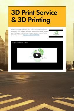 3D Print Service & 3D Printing