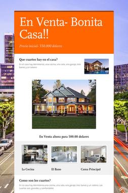 En Venta- Bonita Casa!!