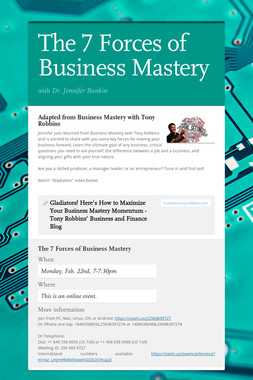 The 7 Forces of Business Mastery