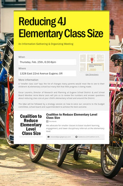 Reducing 4J Elementary Class Size