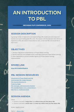 An Introduction to PBL
