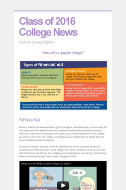 Class of 2016 College News