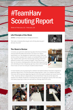 #TeamHarv Scouting Report