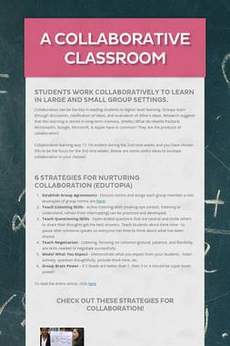A Collaborative Classroom