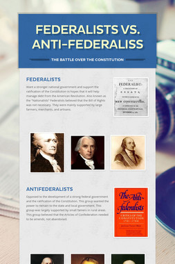 Federalists vs. Anti-Federaliss