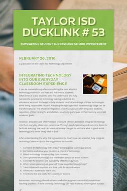 Taylor ISD DuckLink # 53
