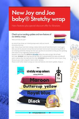 New Joy and Joe baby® Stretchy wrap