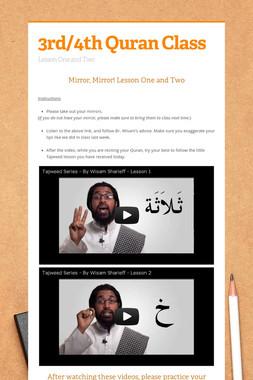 3rd/4th Quran Class