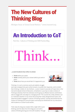 The New Cultures of Thinking Blog