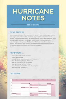 Hurricane Notes