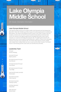 Lake Olympia Middle School