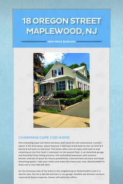 18 Oregon Street Maplewood, NJ