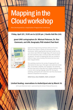 Mapping in the Cloud workshop