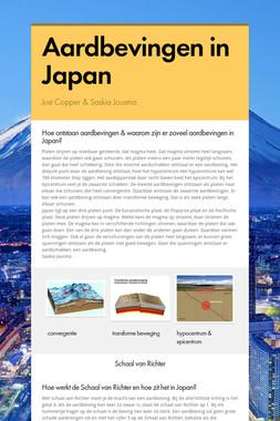Aardbevingen in Japan
