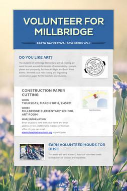 Volunteer for Millbridge