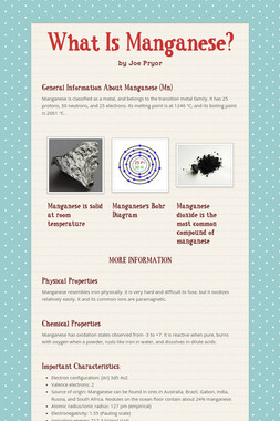What Is Manganese?