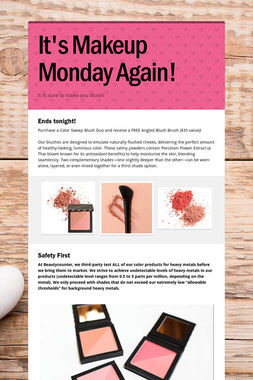 It's Makeup Monday Again!