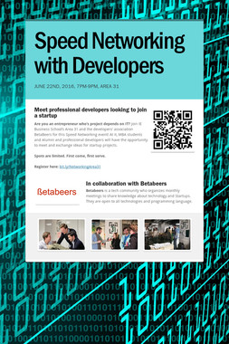 Speed Networking with Developers