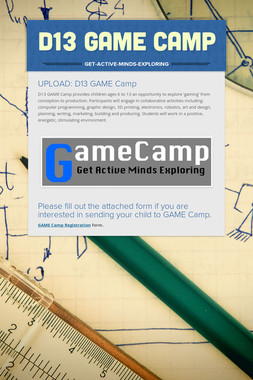 D13 GAME Camp